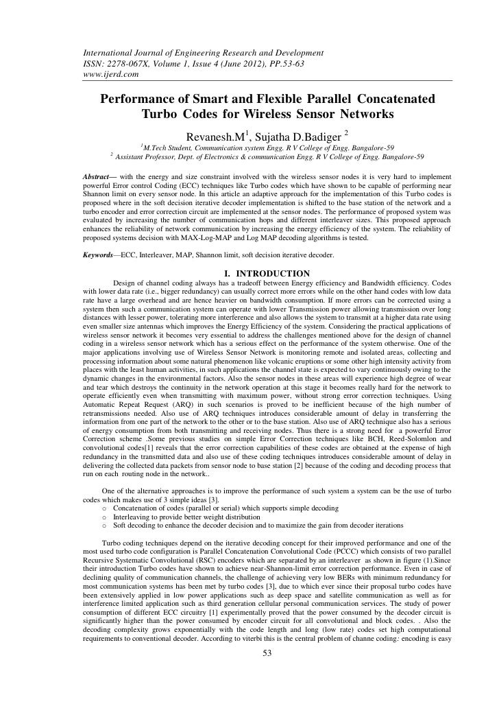 International Journal of Engineering Research and DevelopmentISSN: 2278-067X, Volume 1, Issue 4 (June 2012), PP.53-63www.i...