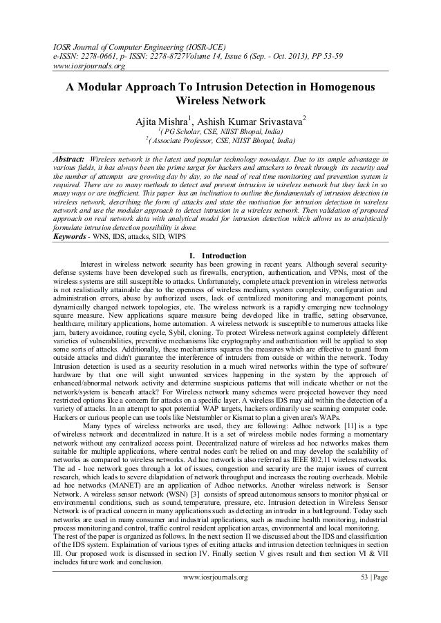 IOSR Journal of Computer Engineering (IOSR-JCE) e-ISSN: 2278-0661, p- ISSN: 2278-8727Volume 14, Issue 6 (Sep. - Oct. 2013)...