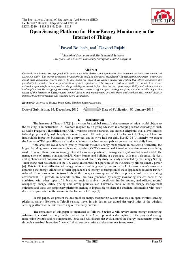 The International Journal of Engineering And Science (IJES)||Volume|| 2 ||Issue|| 1 ||Pages|| 53-61 ||2013||ISSN: 2319 – 1...