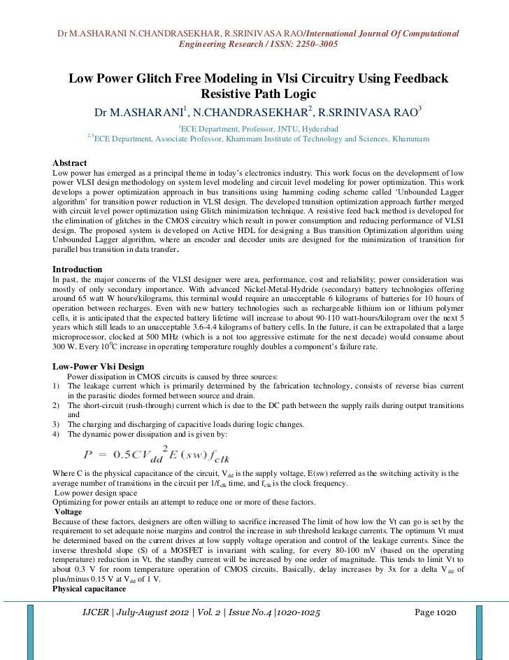 Dr M.ASHARANI N.CHANDRASEKHAR, R.SRINIVASA RAO/International Journal Of Computational                       Engineering Re...
