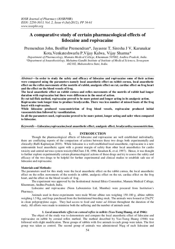 IOSR Journal of Pharmacy (IOSRPHR)ISSN: 2250-3013, Vol. 2, Issue 4 (July2012), PP 54-61www.iosrphr.org       A comparative...