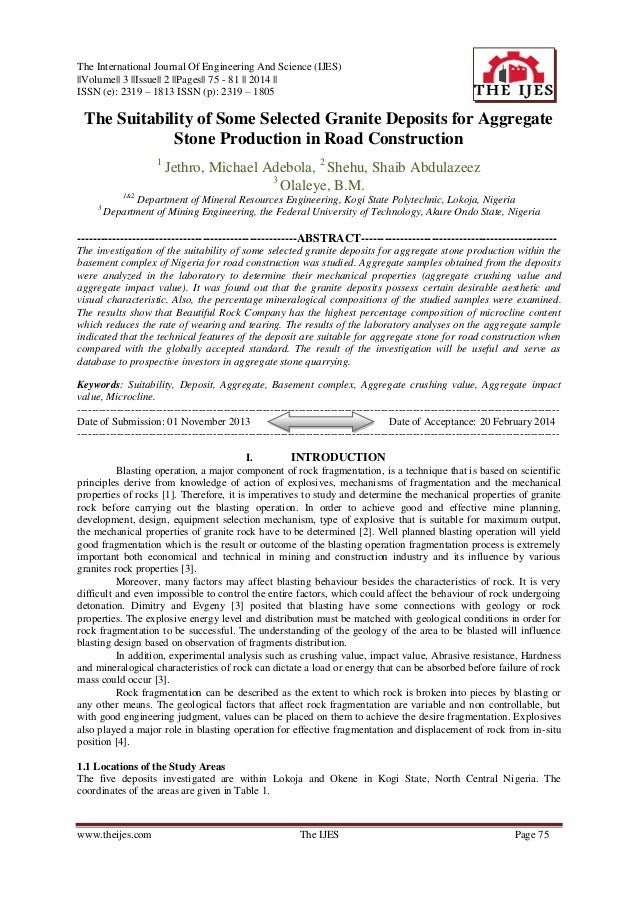 The International Journal Of Engineering And Science (IJES)   Volume   3   Issue   2   Pages   75 - 81    2014    ISSN (e)...