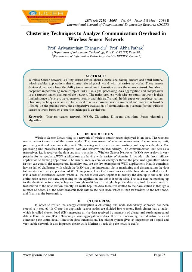 ISSN (e): 2250 – 3005    Vol, 04    Issue, 5    May – 2014    International Journal of Computational Engineering Research ...