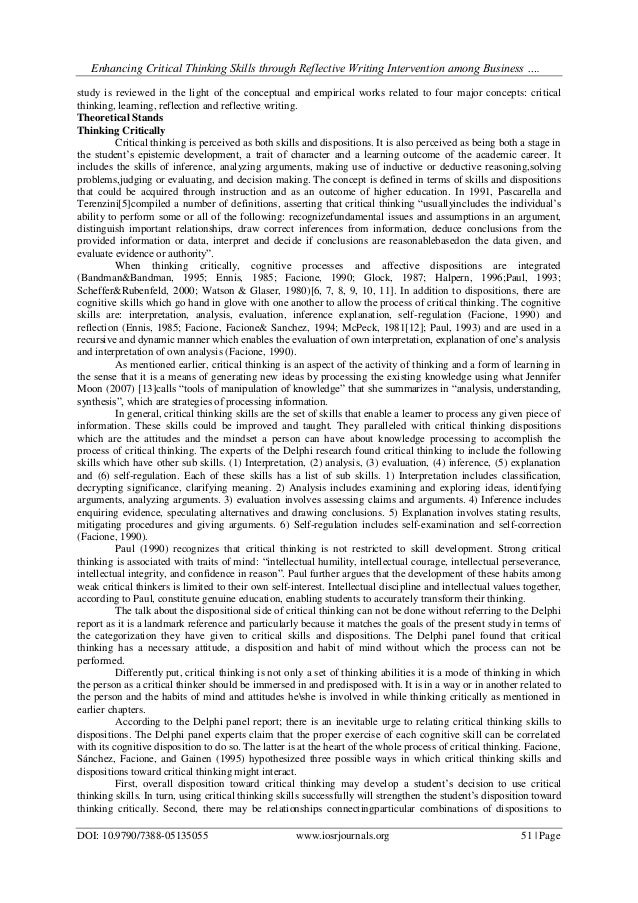 collaborative learning enhances critical thinking education essay Critical and creative thinking involves students thinking broadly and deeply using skills, behaviours and dispositions such as reason, logic, resourcefulness, imagination and innovation in all learning areas at school and in their lives beyond school.