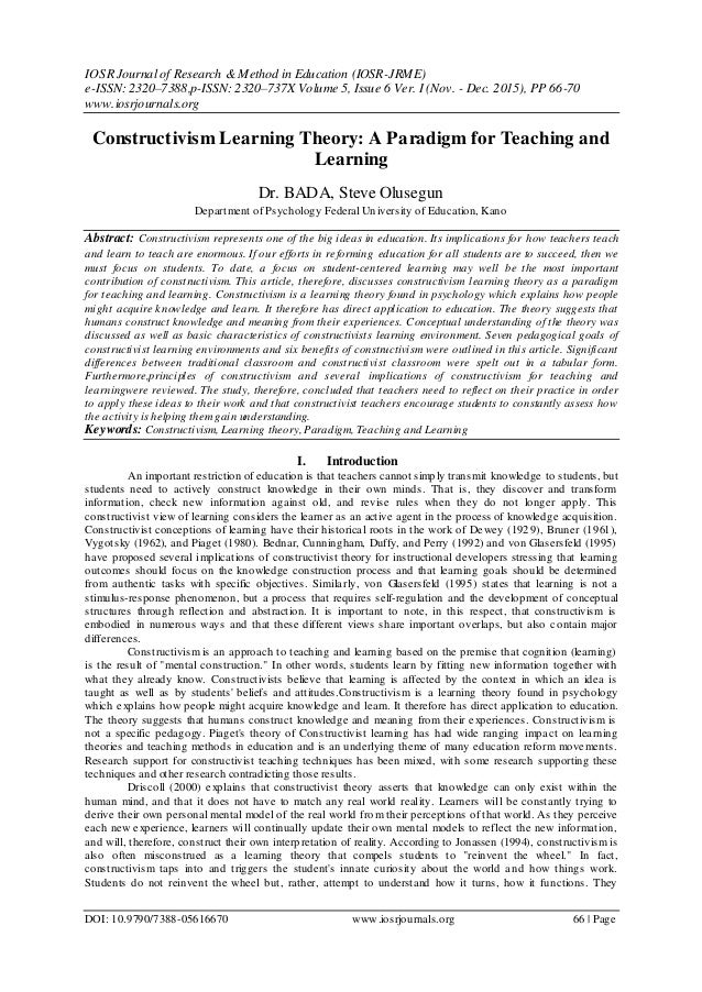 Seven goals for the design of constructivist learning environments
