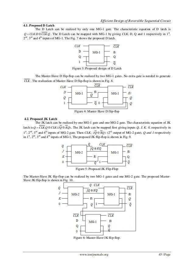 4  efficient design of reversible sequential circuit