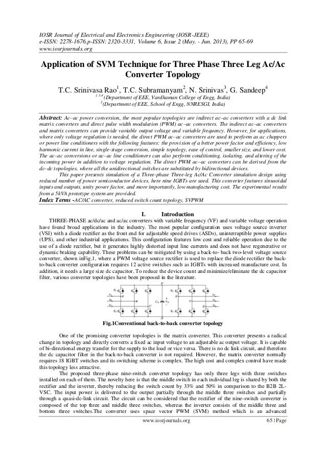 IOSR Journal of Electrical and Electronics Engineering (IOSR-JEEE) e-ISSN: 2278-1676,p-ISSN: 2320-3331, Volume 6, Issue 2 ...