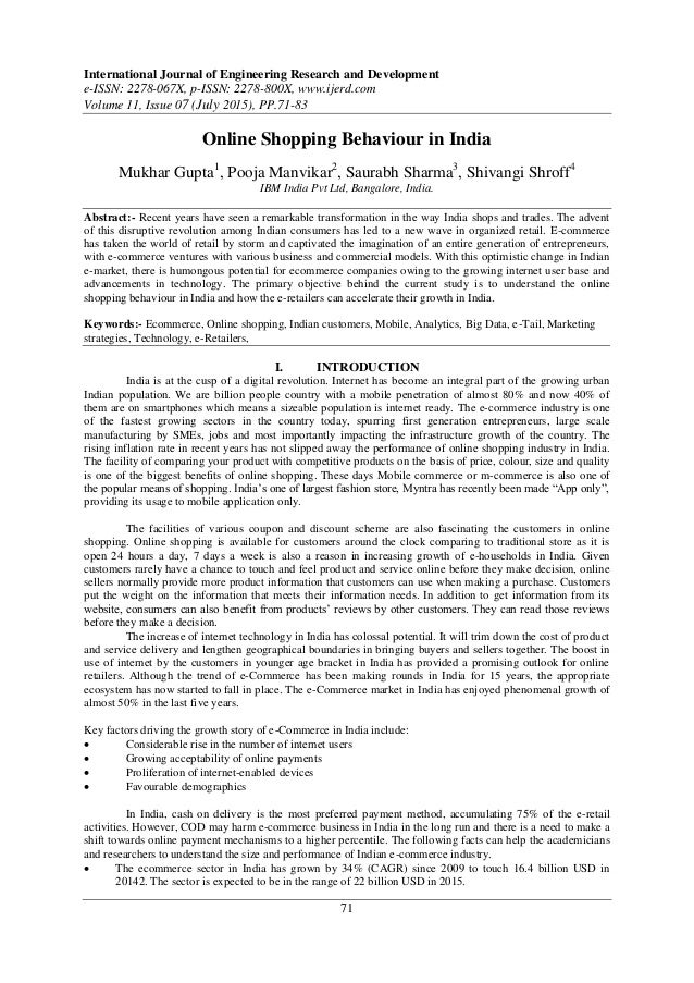 articles on consumer behaviour towards online shopping