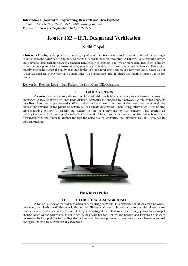 Router 1x3 Rtl Design And Verification