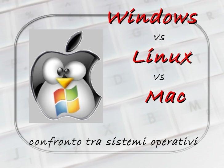Windows vs Linux vs   Mac  confronto tra sistemi operativi