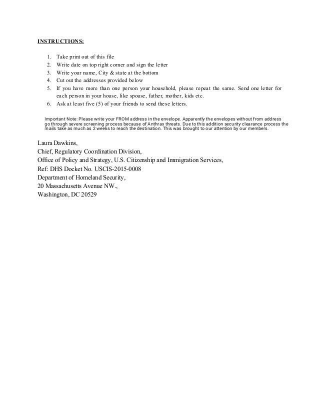 I140 Ead Ap Public Comments Sample Comments Template