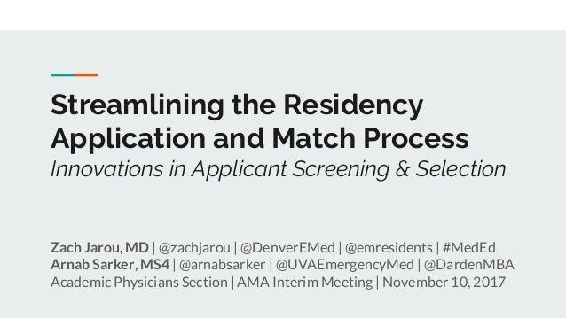 Dermatology Residency Supplemental Application