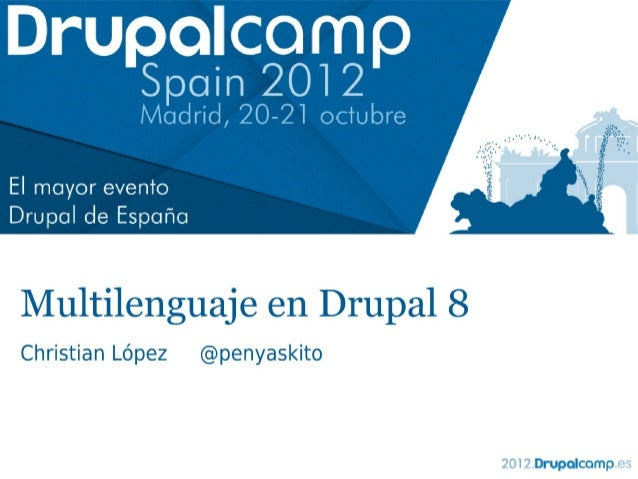 Multilenguaje en Drupal 8