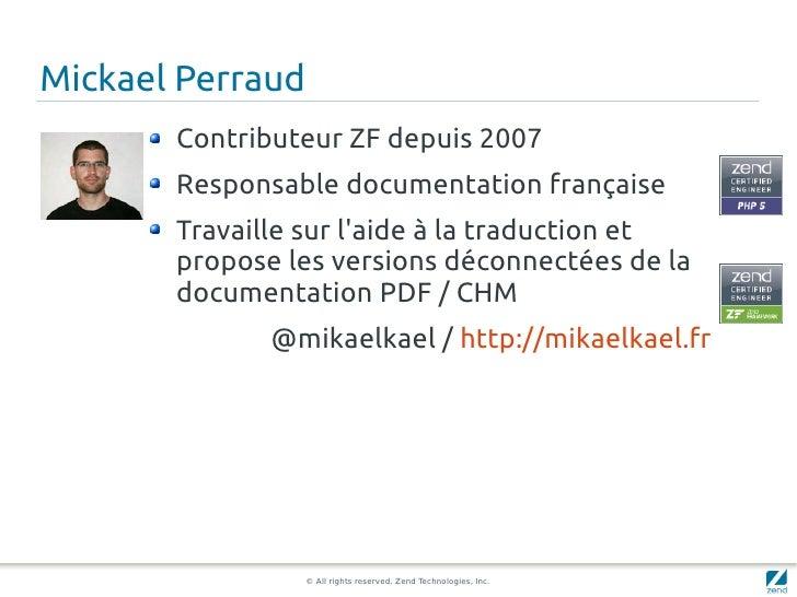Découvrez le noyau d'internationalisation du Zend Framework Slide 2