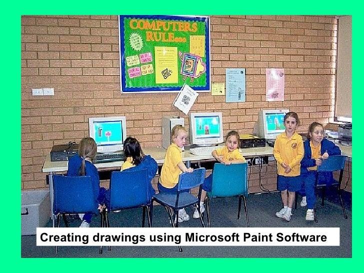 Creating drawings using Microsoft Paint Software
