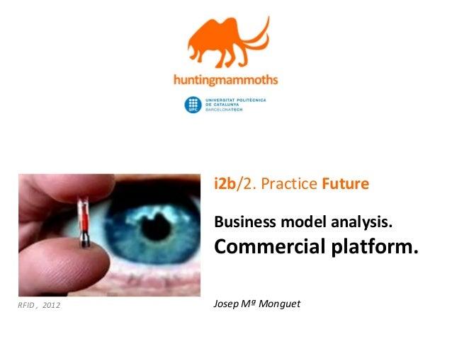 jm.monguet@upc.edu | http://huntingmammoths.com i2b/2. Practice Future Business model analysis. Commercial platform. Josep...