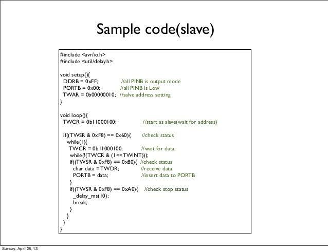 I2c Read Example C Code