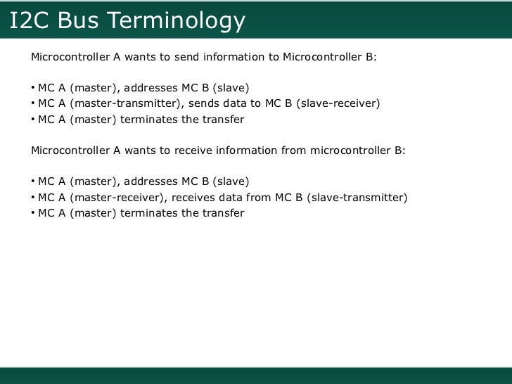 I2C Bus (Inter-Integrated Circuit)