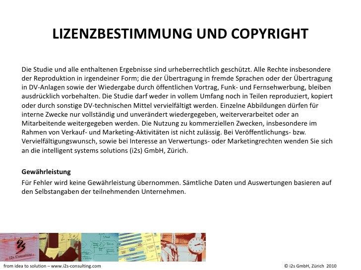 I2s crm studie 2010 summary Slide 2
