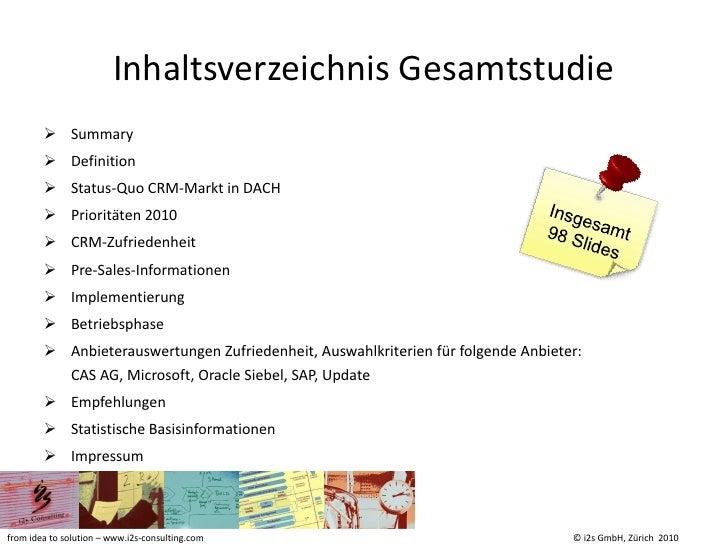 I2s crm studie 2010 summary Slide 3