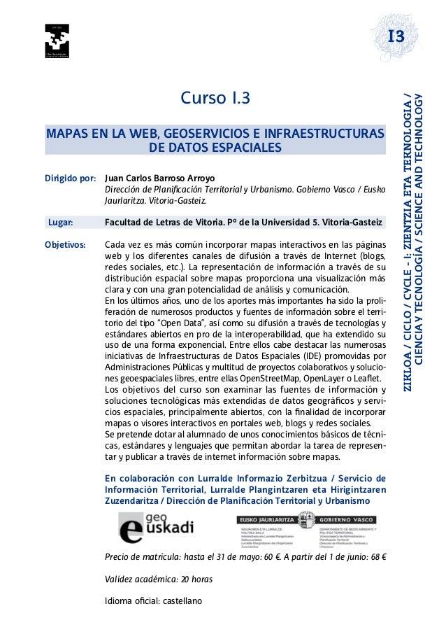 ZIKLOA/CICLO/CYCLE-I:ZIENTZIAETATEKNOLOGIA/ CIENCIAYTECNOLOGÍA/SCIENCEANDTECHNOLOGY I3 Curso I.3 Mapas en la web, geoservi...