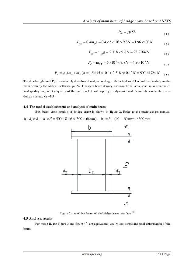 Analysis of main beam of bridge crane based on ANSYS