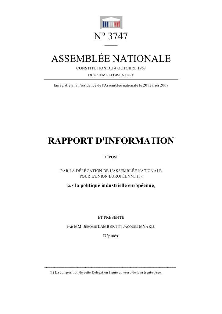 N° 3747                                      _______   ASSEMBLÉE NATIONALE                   CONSTITUTION DU 4 OCTOBRE 195...