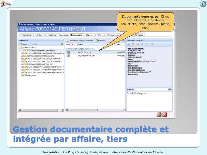 Documents générés par i3 ou                                                              bien intégrés à postériori       ...
