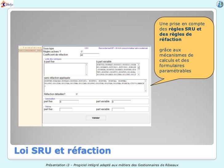 Une prise en compte                                                                             des règles SRU et         ...