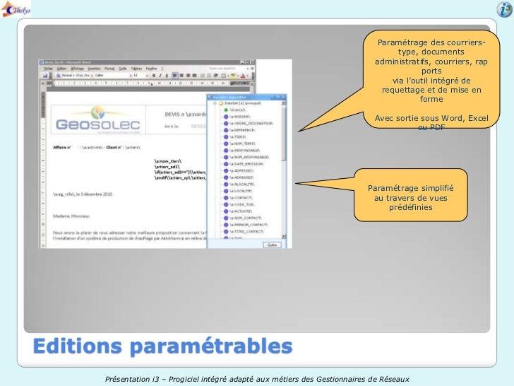 Paramétrage des courriers-                                                                                      type, docu...