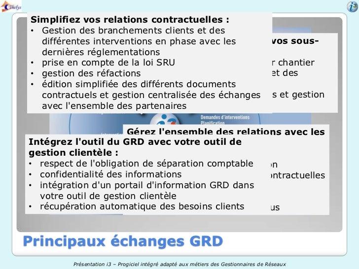 Simplifiez vos relations contractuelles :• Gestion des branchements clients et des  différentes interventions en phase ave...
