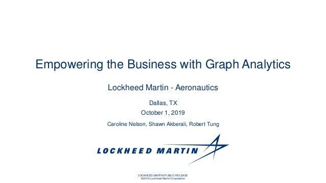 LOCKHEED MARTIN PUBLIC RELEASE ©2019 Lockheed Martin Corporation Caroline Nelson, Shawn Akberali, Robert Tung Dallas, TX O...