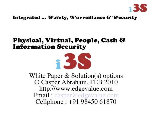 White Paper & Solution(s) options © Casper Abraham, FEB 2010 http://www.edgevalue.com Email : casper@edgevalue.com Cellpho...