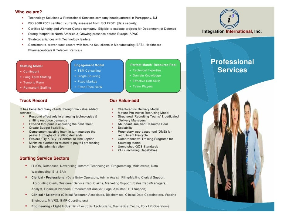 I Staff Augmentation Services Brochure
