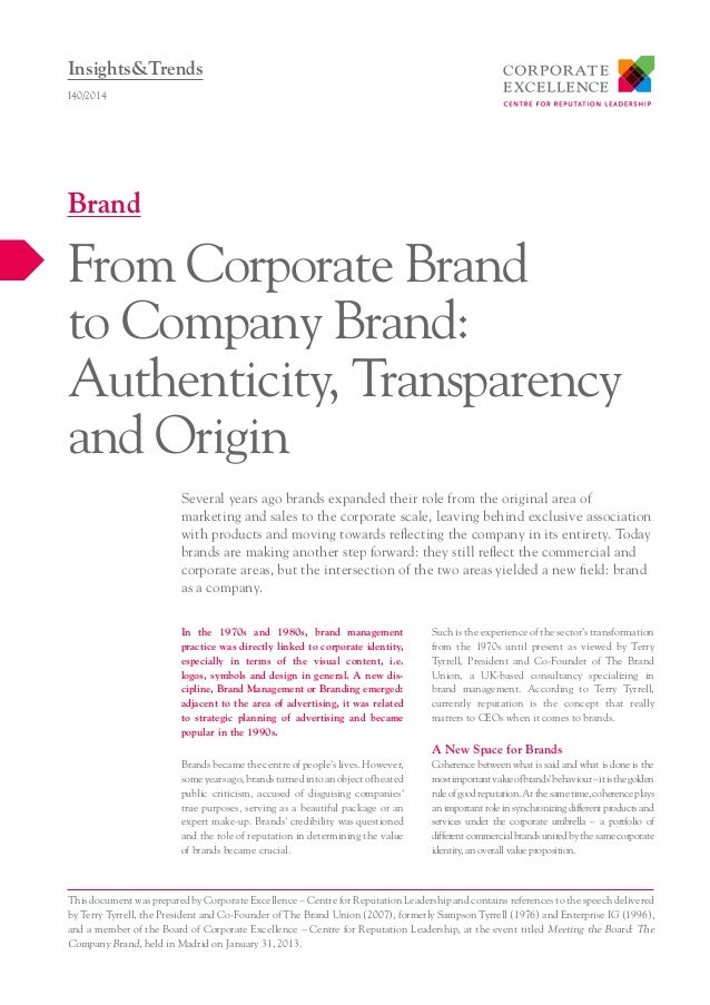 In the 1970s and 1980s, brand management practice was directly linked to corporate identity, especially in terms of the vi...