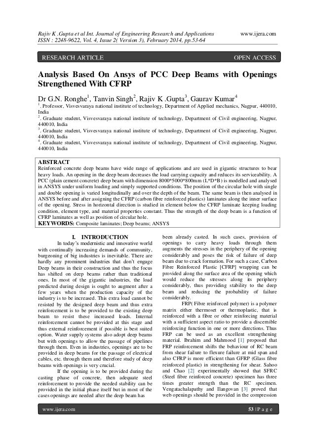 Rajiv K .Gupta et al Int. Journal of Engineering Research and Applications ISSN : 2248-9622, Vol. 4, Issue 2( Version 3), ...