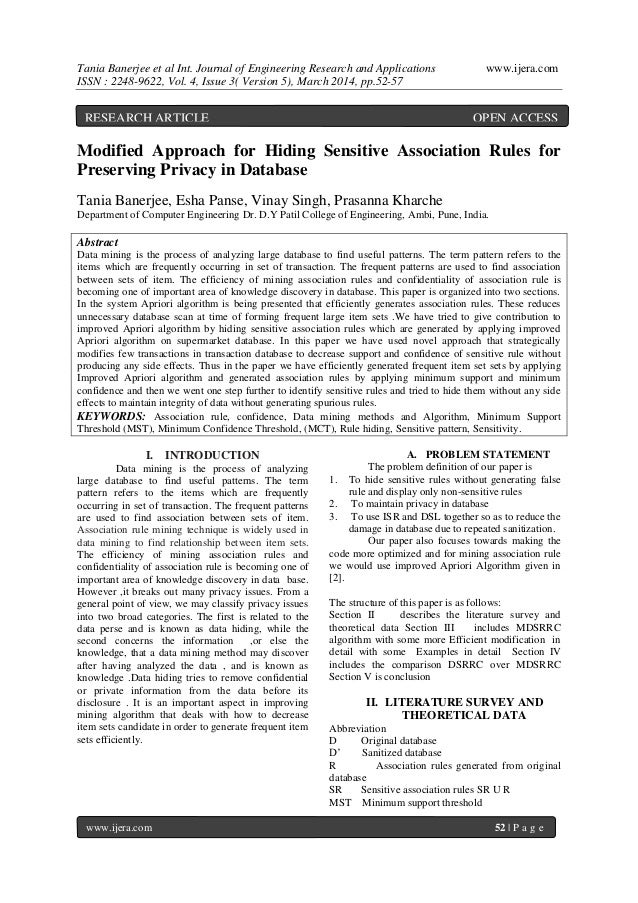 Tania Banerjee et al Int. Journal of Engineering Research and Applications www.ijera.com ISSN : 2248-9622, Vol. 4, Issue 3...