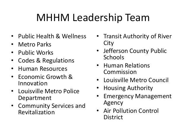 MHHM Leadership Team  • Public Health & Wellness  • Metro Parks  • Public Works  • Codes & Regulations  • Human Resources ...