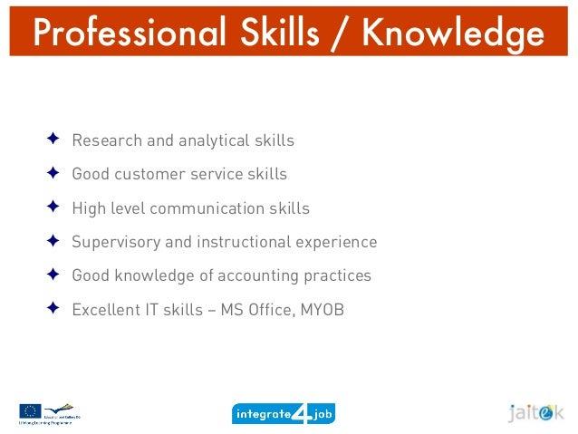 professional skills for cv