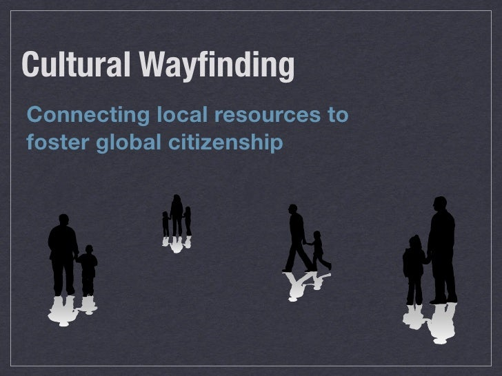 Cultural Wayfinding Connecting local resources to foster global citizenship