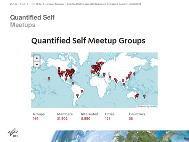 Quantified Self Meetups  DLR.de • Folie 10 > FrOSCon 9 > Andreas Schreiber • Quantified Self mit Wearable Devices und Smar...
