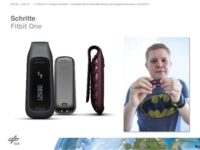 Schritte Fitbit One  DLR.de • Folie 15 > FrOSCon 9 > Andreas Schreiber • Quantified Self mit Wearable Devices und Smartpho...