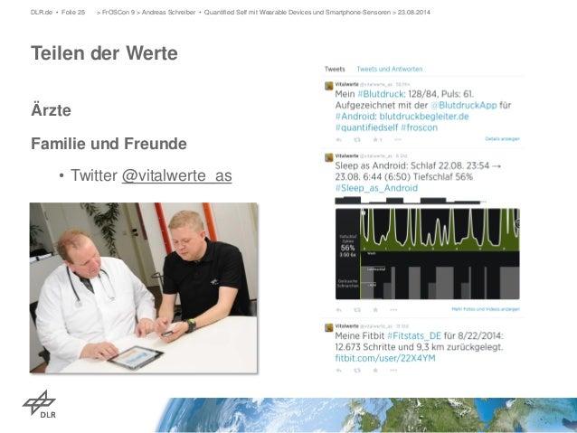 Ärzte  Familie und Freunde  •  Twitter @vitalwerte_as  > FrOSCon 9 > Andreas Schreiber • Quantified Self mit Wearable D DL...