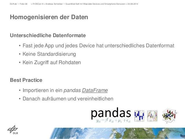 Unterschiedliche Datenformate  •  Fast jede App und jedes Device hat unterschiedliches Datenformat  •  Keine Standardisier...