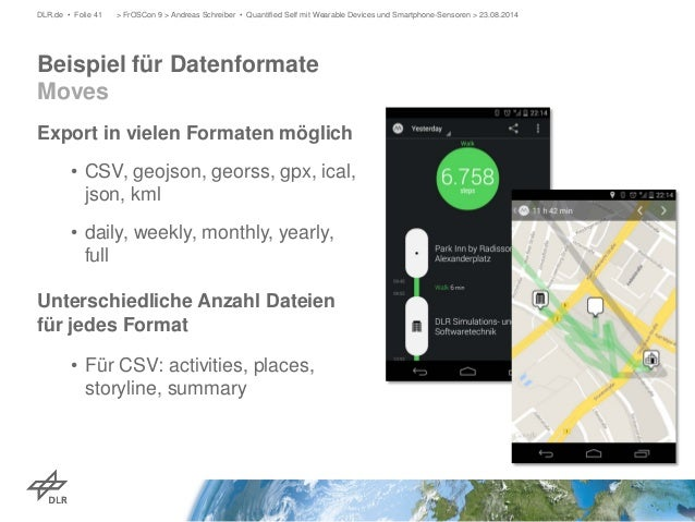 Export in vielen Formaten möglich  •  CSV, geojson, georss, gpx, ical, json, kml  •  daily, weekly, monthly, yearly, full ...