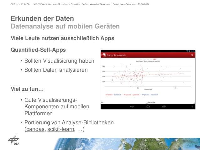 Viele Leute nutzen ausschließlich Apps  Quantified-Self-Apps  •  Sollten Visualisierung haben  •  Sollten Daten analysiere...