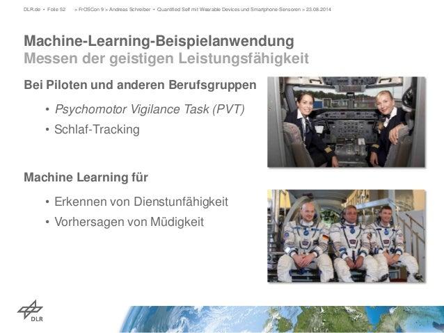 Bei Piloten und anderen Berufsgruppen  •  Psychomotor Vigilance Task (PVT)  •  Schlaf-Tracking  Machine Learning für  •  E...