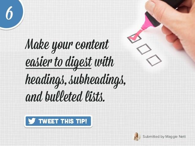 20 Quick Tips to Make Blogging Way Easier Slide 12