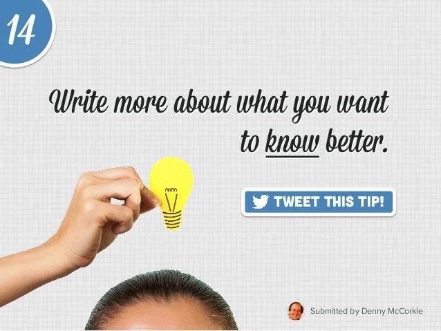 20 Quick Tips to Make Blogging Way Easier Slide 20