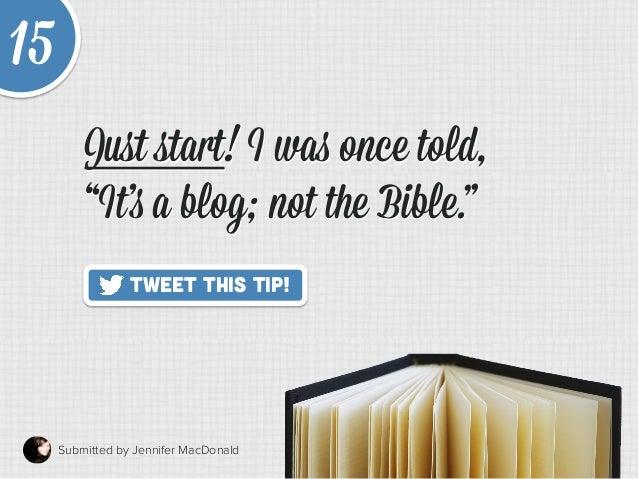 20 Quick Tips to Make Blogging Way Easier Slide 21